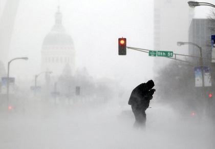 Vientos polares congelan gran parte de Estados Unidos
