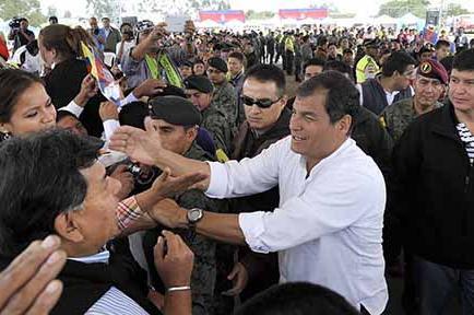 Correa estará 2 días en campaña
