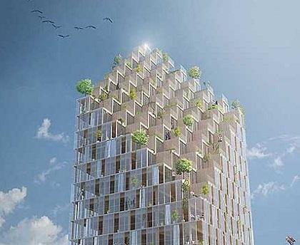 Harán rascacielos de madera en Suecia