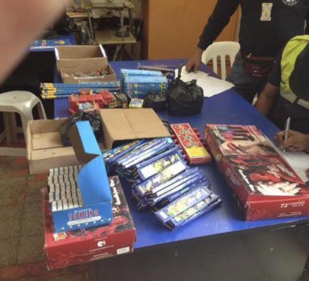1.470 explosivos se decomisaron durante las fiestas en Manabí