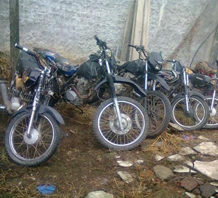 Controles contra las motocicletas robadas