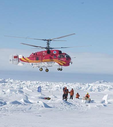 Rompehielos viaja a la Antártida