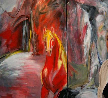 Pilar Bustos expone su arte en salas de la capital