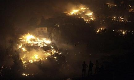 Bachelet decreta estado de excepción y zona de catástrofe en Valparaíso