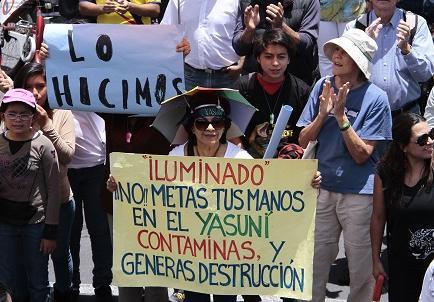 Colectivo opuesto a extracción crudo en Yasuní se alista para revisión firmas