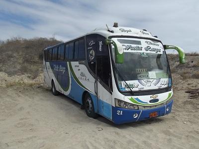 Policía retiene un bus por exceso de pasajeros