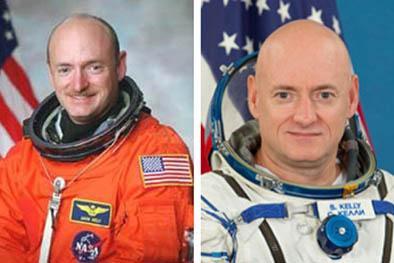 Astronautas gemelos participan en  experimento de la nasa