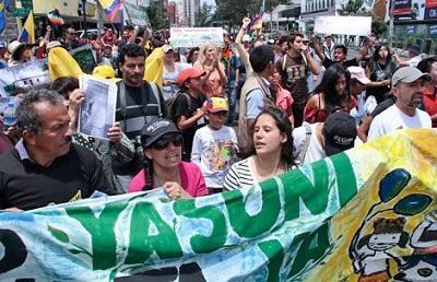 Yasunidos mantiene lucha por evitar explotación del Yasuní