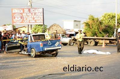 Un accidente de tránsito deja un muerto y 4 heridos en Jaramijó