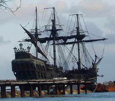 "Se hunde el barco de ""Piratas del Caribe"""
