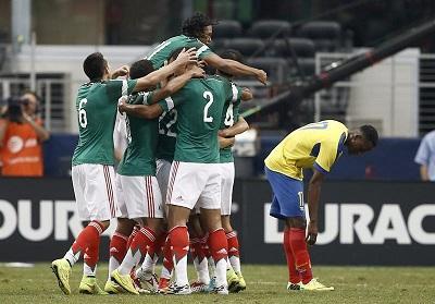México goleó a Ecuador en partido preparatorio previo al Mundial