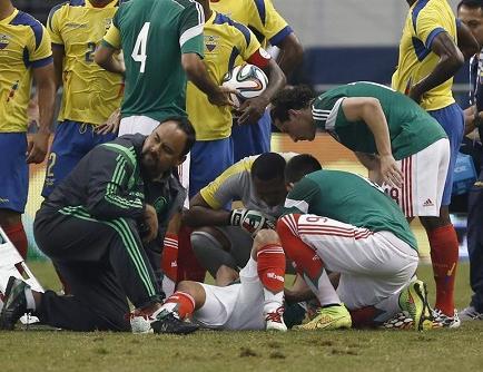El mexicano Luis Montes tardará seis meses en recuperarse de su fractura
