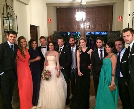 Nacho Fernández se llevó al Real Madrid a su boda