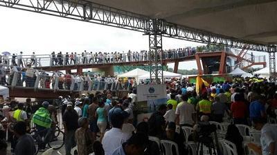 Inauguran puente que une a Guayaquil con la Isla Santay