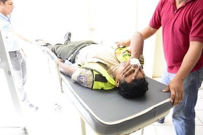 Policía resulta herido en accidente de tránsito