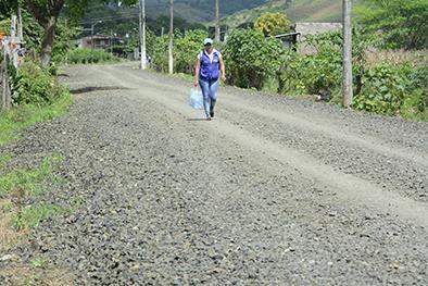 Trabajos abandonados en la calle 1 de enero
