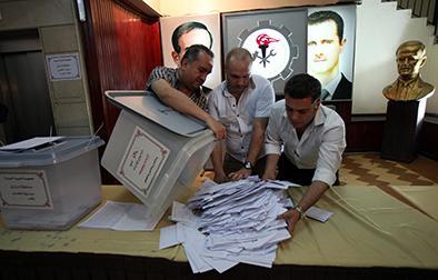 """Bashar al Asad """"barrió"""" en Siria"""