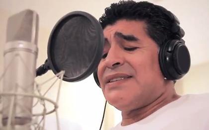 Maradona graba un tema para el Mundial de Brasil