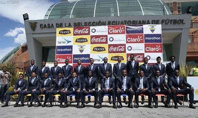 La Selección de Ecuador ya se tomó la foto oficial para Brasil 2014