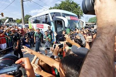 La selección mexicana llega a Brasil para disputar el Mundial