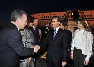 Peña Nieto llegó a Madrid para visita de Estado de dos días