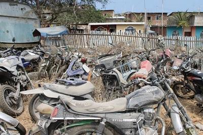 Motos robadas en Manta son utilizadas para extraer repuestos