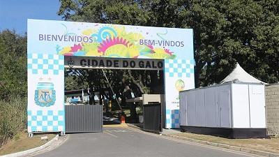 Argentina quita la leyenda 'futuros campeones' de la entrada de su alojamiento