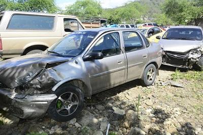 Un policía resulta herido en accidente de tránsito