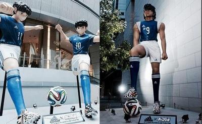 Marca deportiva construye  estatuas de los 'Super Campeones'