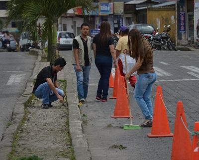 Minga de limpieza en Santo Domingo tuvo una importante acogida
