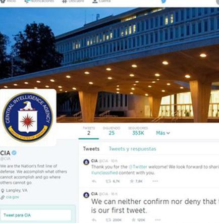 La CIA estrena cuenta en Twitter con buen humor