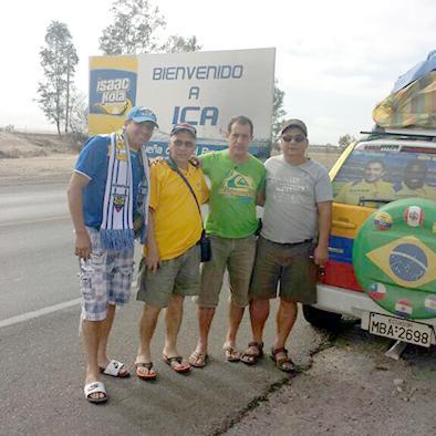 Los viajeros manabitas  continúan hacia Brasil