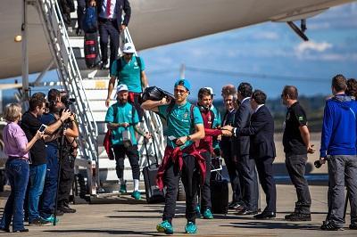 La Selección de Portugal aterrizó en Campinas, su cuartel en Brasil
