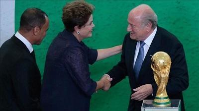 Rousseff pide a brasileños apoyo a la selección para conquistar sexto título