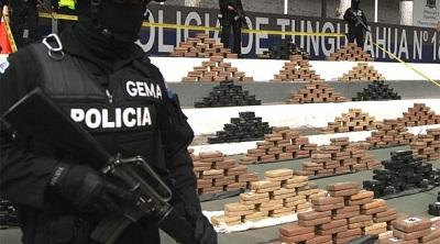 Decomisan una tonelada de droga en una vivienda de Pelileo
