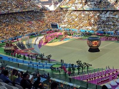 Música, baile y color en la inauguración del Mundial de Brasil 2014