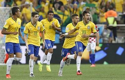 Brasil venció 3-1 a Croacia en el partido inaugural del Mundial