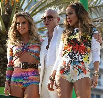 J.LO, Pitbull y Leitte cantan el himno del Mundial