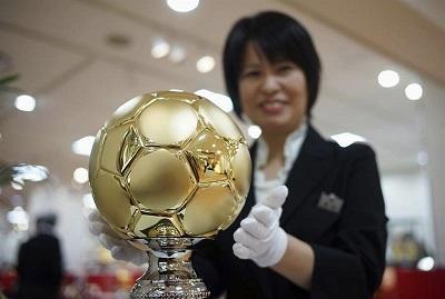 Ponen a la venta un balón de oro valorado en más de 419 mil dólares