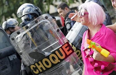 Huelga paraliza parcialmente ciudad brasileña donde se disputa partido