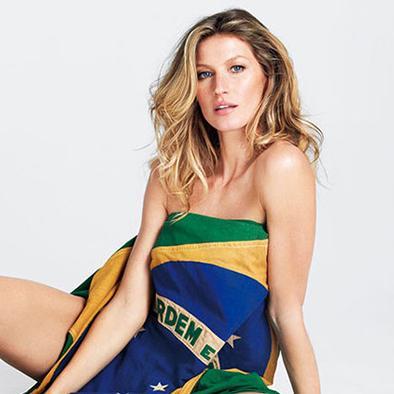 Supermodelo celebra el Mundial en una revista