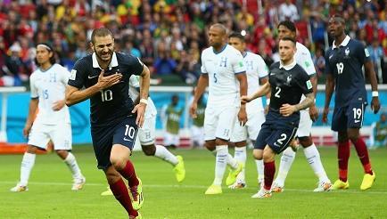 Francia gana 3-0 a Honduras en Porto Alegre (Video)