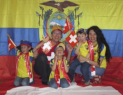 Corazón dividido: Un suizo y una ecuatoriana esperan un empate