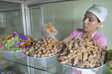 La producción de dulces con apoyo