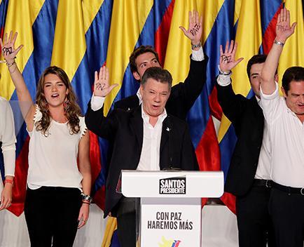 Juan Manuel Santos para 4 años más