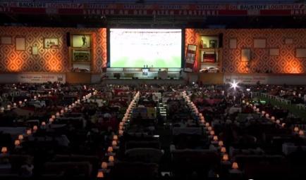 Estadio se convierte en el salón más grande para ver el Mundial