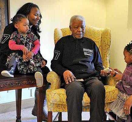 Avaricia en la familia de Mandela