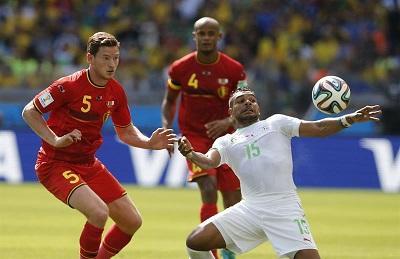 Bélgica le da la vuelta al marcador y vence 2-1 a Argelia