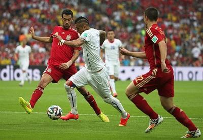 España y Chile se enfrentan en el estadio Maracaná de Río de Janeiro