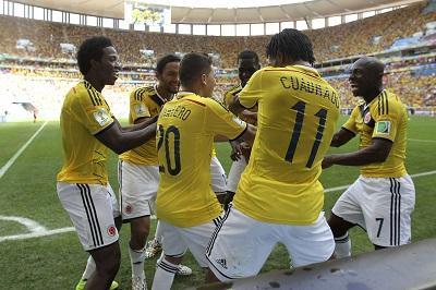 Colombia vence 2-1 a Costa de Marfil y clasifica a octavos de final